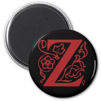 Fancy Letter Z Magnet
