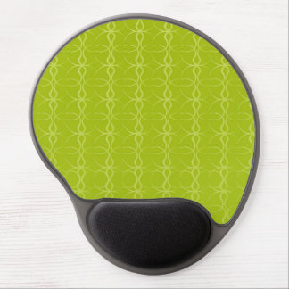 Fancy Lime Green Lines Vintage Pattern Gel Mousepad