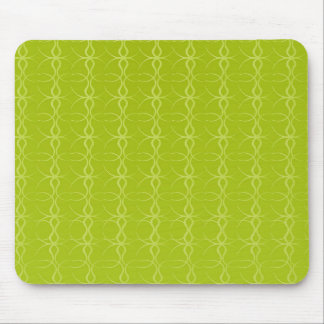 Fancy Lime Green Lines Vintage Pattern Mousepads