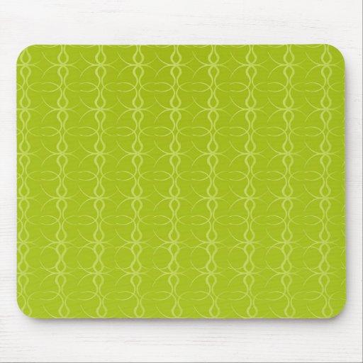 Fancy Lime Green Lines Vintage Pattern Mousepads