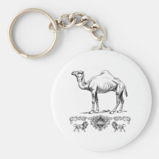 fancy lion camel key ring