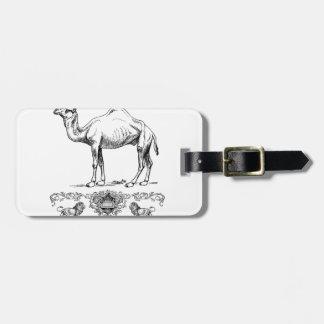 fancy lion camel luggage tag