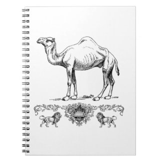 fancy lion camel notebook