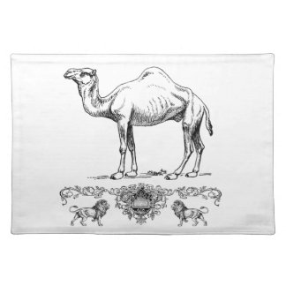 fancy lion camel placemat