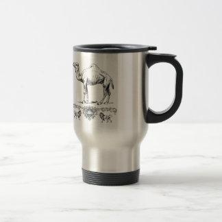 fancy lion camel travel mug