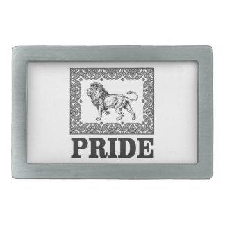 Fancy lion pride belt buckle
