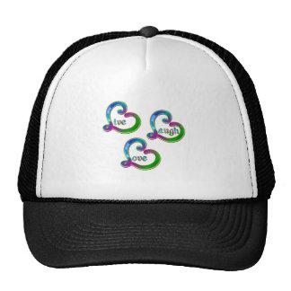 Fancy Live Laugh Love Hats