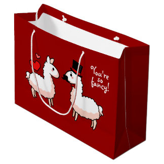 Fancy Llama Large Gift Bag