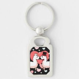 Fancy Llama & Little Llama Key Ring