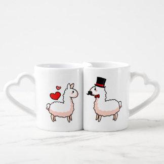 Fancy Llama & Little Llama Lovers Mug Sets