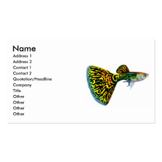 Fancy Male Guppy Profile Card Business Cards
