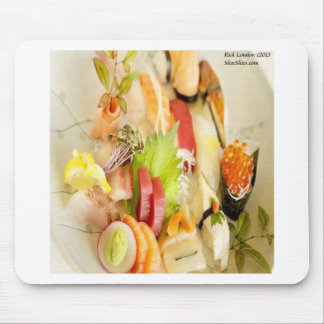 Fancy Mixed Fish Gourmet Sushi Plate Mouse Pad