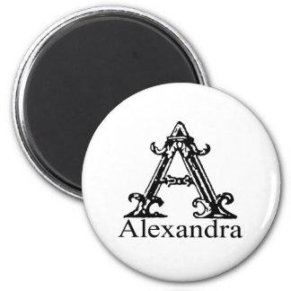 Fancy Monogram: Alexandra Magnet