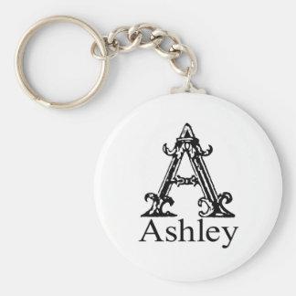 Fancy Monogram: Ashley Key Ring