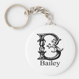 Fancy Monogram: Bailey Key Ring