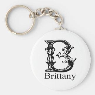 Fancy Monogram: Brittany Key Ring