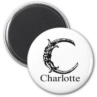 Fancy Monogram: Charlotte 6 Cm Round Magnet
