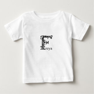 Fancy Monogram: Freya Baby T-Shirt