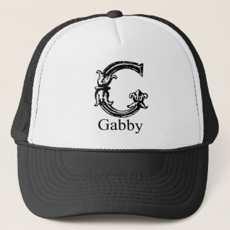 Fancy Monogram: Gabby Trucker Hat
