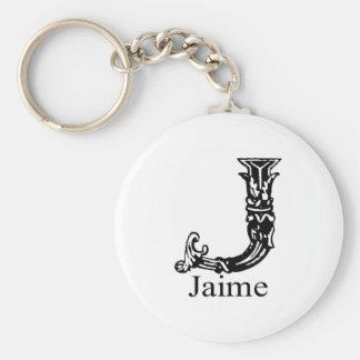 Fancy Monogram: Jaime Key Ring