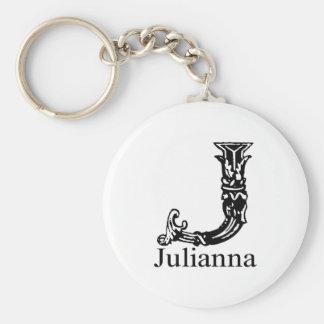 Fancy Monogram: Julianna Key Ring