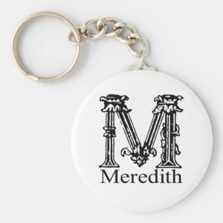 Fancy Monogram: Meredith Key Ring