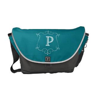 Fancy Monogram Messenger Bag