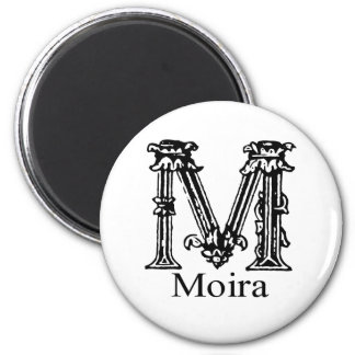 Fancy Monogram Moira Refrigerator Magnet