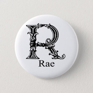 Fancy Monogram: Rae 6 Cm Round Badge