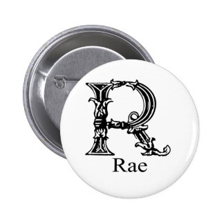 Fancy Monogram: Rae 6 Cm Round Badge