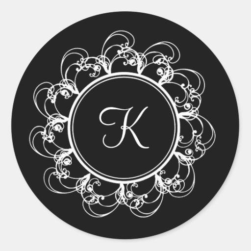 Fancy Monogram Sticker (black)