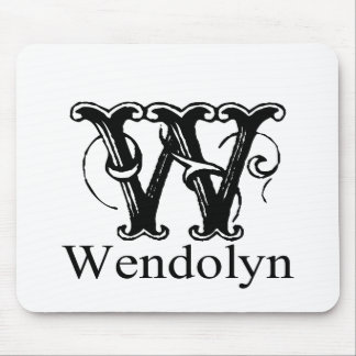 Fancy Monogram: Wendolyn Mouse Pad