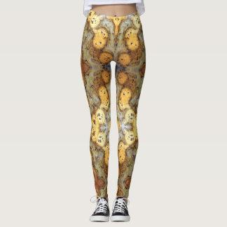 Fancy Natural Leopard Skin Rock Photo Designed Leggings