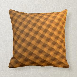 Fancy orange patterned pillow
