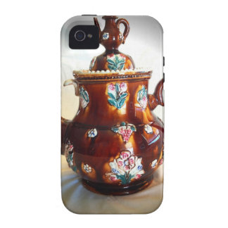 Fancy Ornate Antique English Teapot Coffee Pot iPhone 4/4S Covers