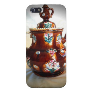 Fancy Ornate Antique English Teapot Coffee Pot iPhone 5/5S Covers