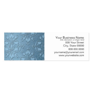 Fancy Pale Blue Damask Pack Of Skinny Business Cards