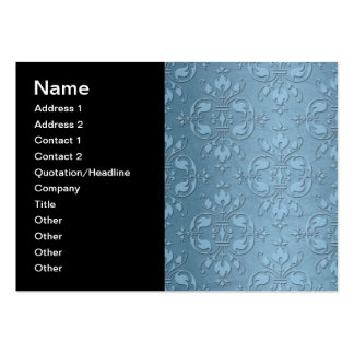 Fancy Pale Blue Damask Pack Of Chubby Business Cards