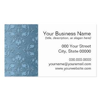 Fancy Pale Blue Damask Pack Of Standard Business Cards