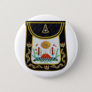 Fancy Past Masters Apron 6 Cm Round Badge