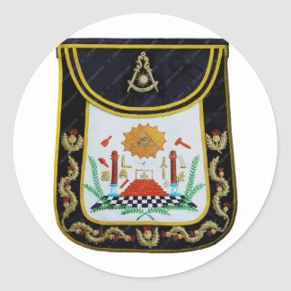 Fancy Past Masters Apron Classic Round Sticker