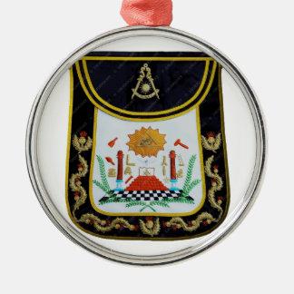 Fancy Past Masters Apron Metal Ornament