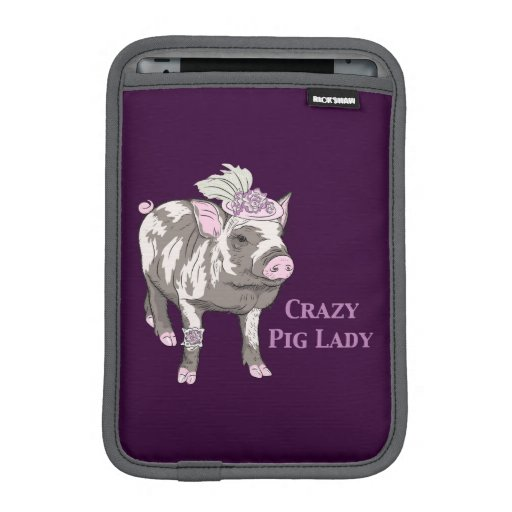 Fancy Pig Lady iPad Mini Sleeve