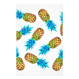 Fancy pineapples stationery