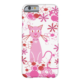 Fancy Pink Cat Barely There iPhone 6 Case