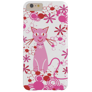 Fancy Pink Cat Barely There iPhone 6 Plus Case