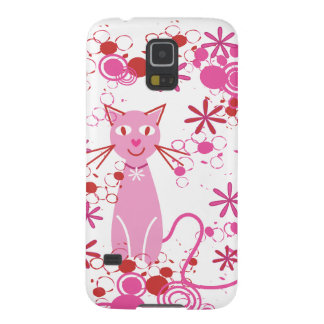 Fancy Pink Cat Galaxy S5 Covers
