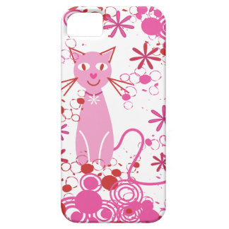 Fancy Pink Cat iPhone 5 Cover