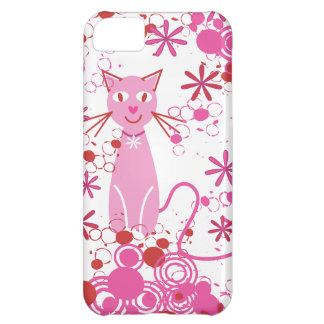 Fancy Pink Cat iPhone 5C Case