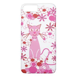 Fancy Pink Cat iPhone 7 Plus Case